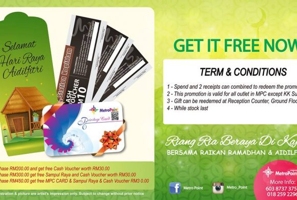 Purchase and get Free Packet Raya,Member Card & Cash Voucher worth RM30.00