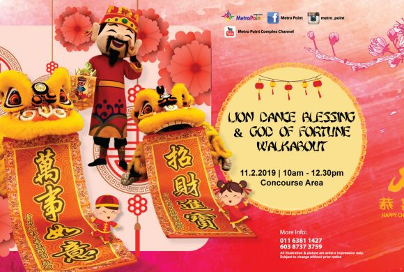 LION DANCE BLESSING & GOD OF FORTUNE WALKABOUT