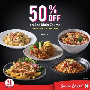 Secret Recipe 50% OFF