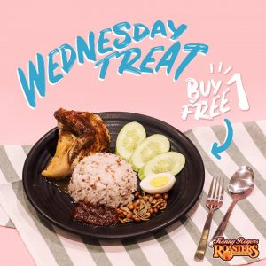 WednesdayTreat NASI LEMAK! BUY 1 FREE 1 KRR