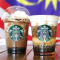 STARBUCKS Iced Caramel Coffee Sphere Cold Foam Latte and Mocha Coffee Sphere Frappuccino