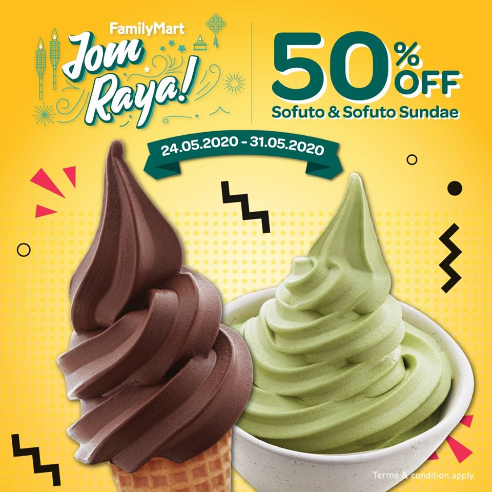 50% off FamilyMart Sofuto and Sundae